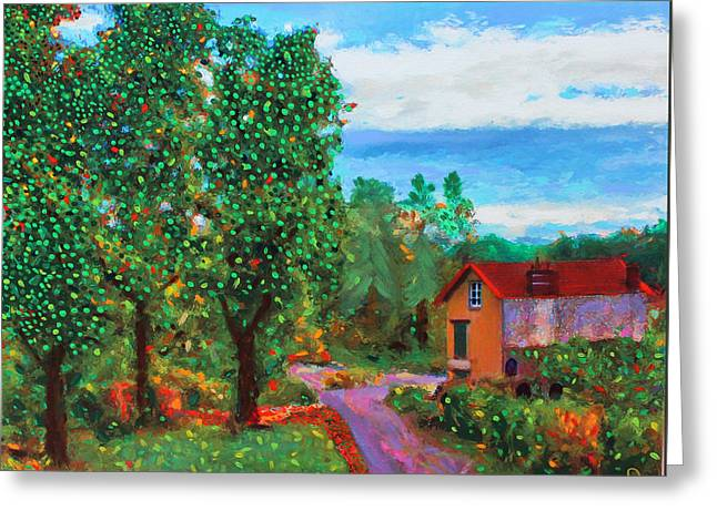 Scene From Giverny Greeting Card