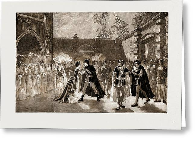 Scene From Il Trovatore At Covent Garden Theatre, London Greeting Card by Litz Collection