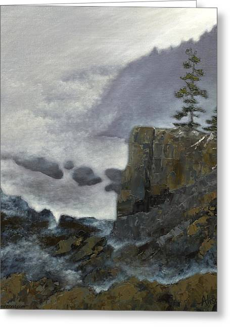 Scene From Quoddy Trail Greeting Card by Alison Barrett Kent