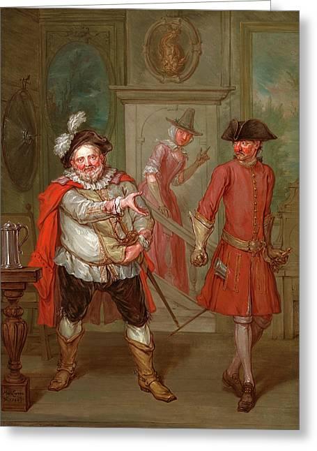 Scene From Shakespeares Henry Iv, Part I Scene From Henry Greeting Card