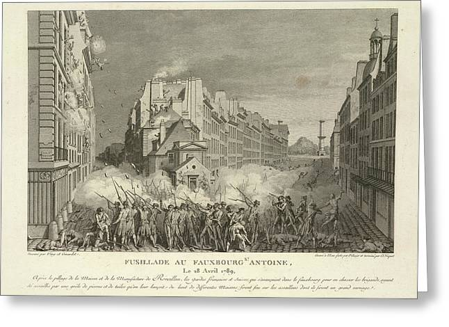 Scene From The French Revolution Greeting Card by British Library