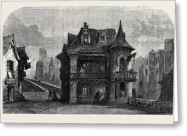 Scene From The House On The Bridge Of Notre Dame Greeting Card by English School