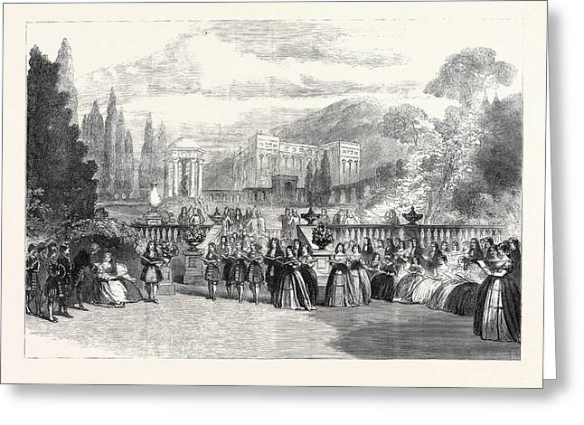 Scene From The New Opera Loves Triumph At Covent Garden 1862 Greeting Card