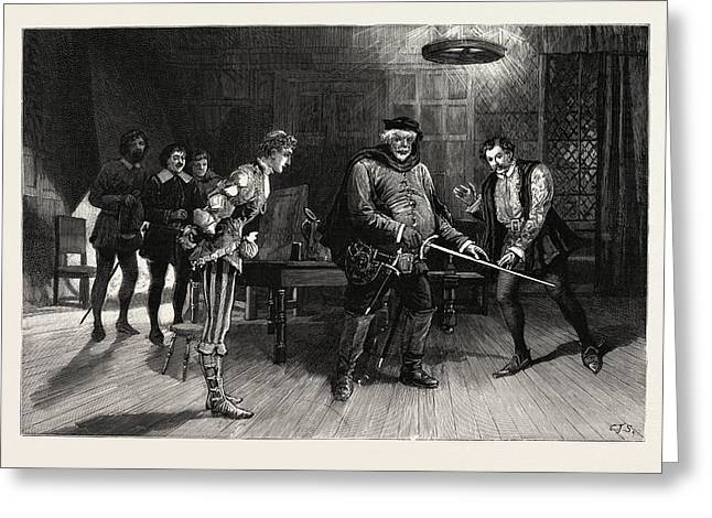 Scene From The Performance Of Henry Iv Greeting Card