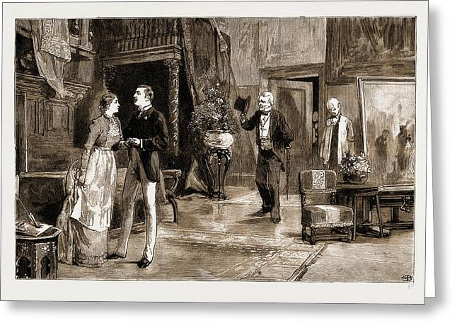 Scene In Act Iv. Of Young Folks Ways Greeting Card by Litz Collection