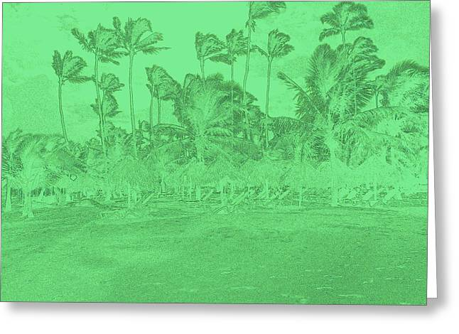 Scene In Green Greeting Card
