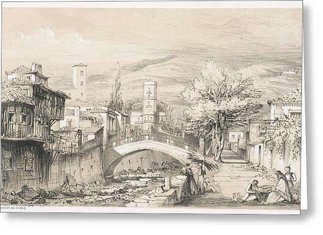 Scene In Madeira Greeting Card by British Library