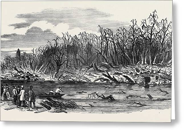 Scene Of The Explosion Of The Hounslow Powder Mills Greeting Card
