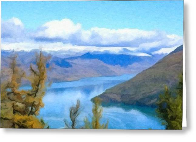 Scenery Of Kanas Lake Greeting Card by Lanjee Chee