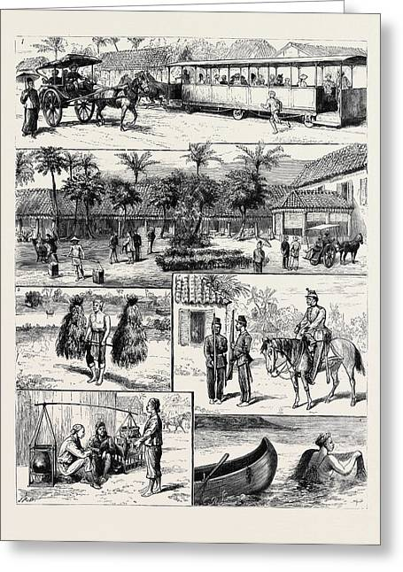 Scenes In Batavia Greeting Card by English School