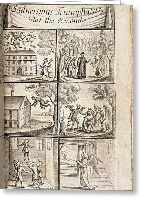 Scenes Of Levitation Greeting Card by British Library