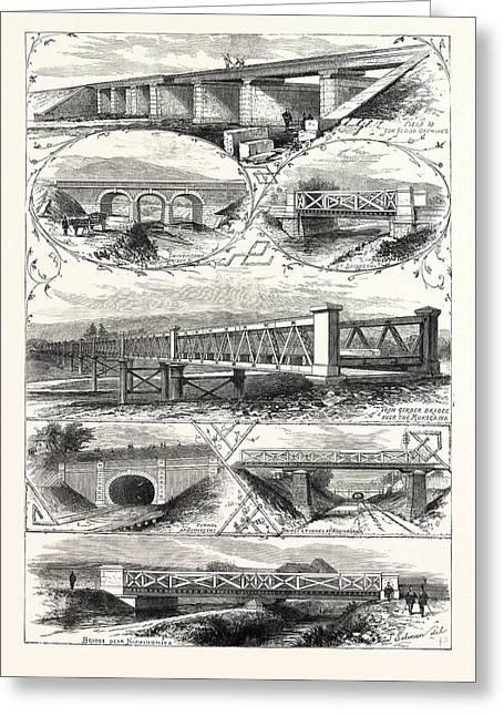 Scenes On The New Railway In Japan Between Osaka And Kobe Greeting Card