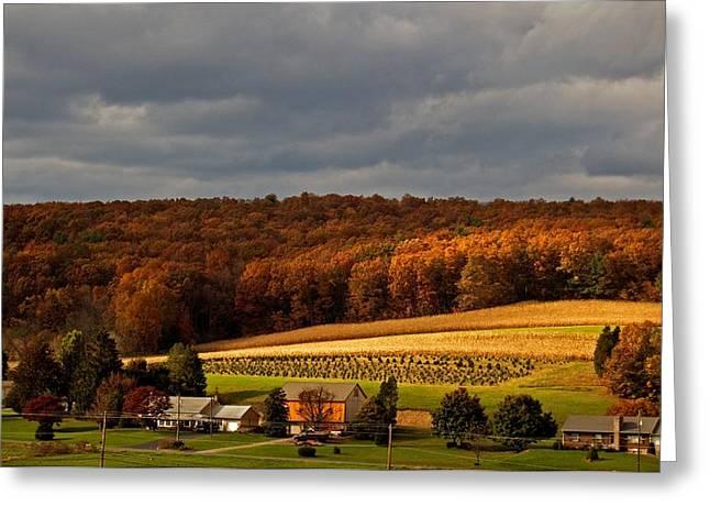Scenic Autumn Greeting Card by Elsa Marie Santoro