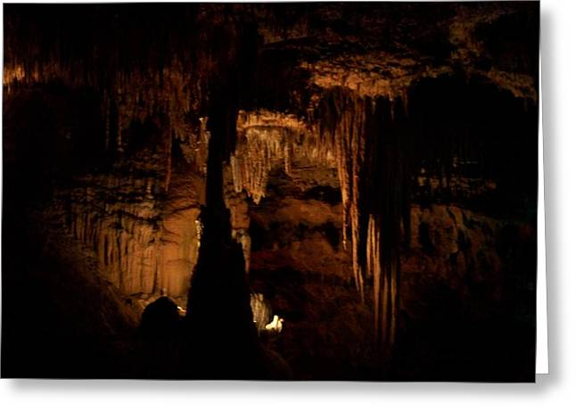 Scenic Cave Greeting Card by Erica  Darknell