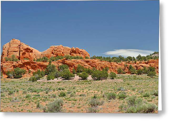 Scenic Navajo Route 12 Near Fort Defiance Greeting Card by Christine Till