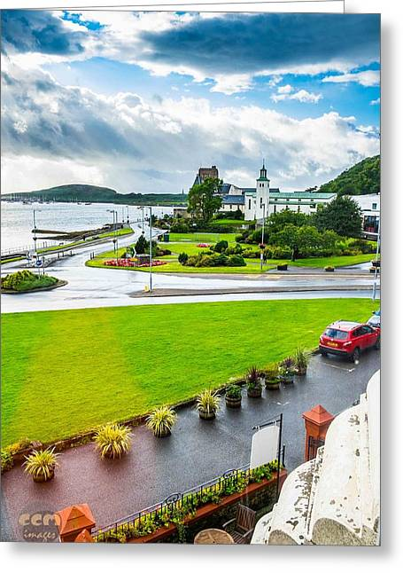 Scenic Oban Scotland Greeting Card by Cliff C Morris Jr