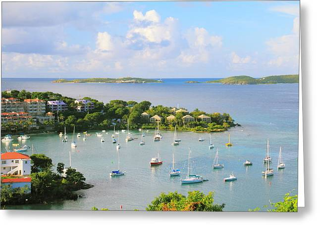 Scenic Overlook Of Cruz Bay St. John Usvi Greeting Card