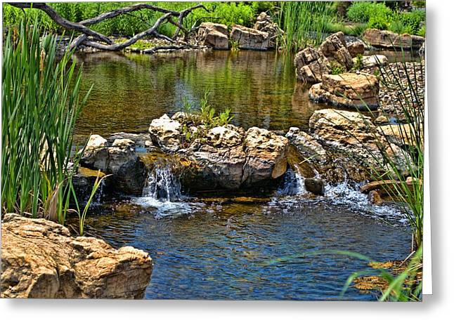 Greeting Card featuring the photograph Scenic Pond by Tim McCullough