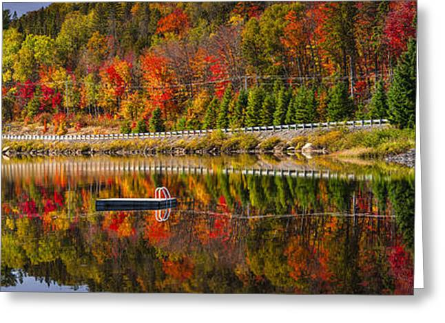 Scenic Road In Fall Forest Greeting Card