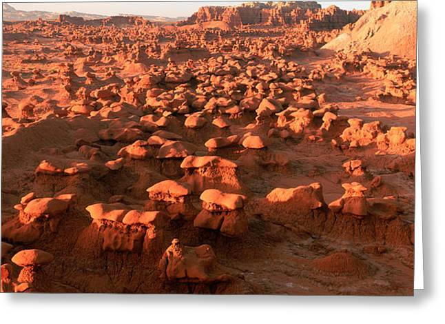 Scenic Rock Sculptures At Goblin Valley Greeting Card by Panoramic Images
