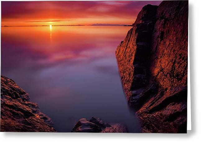 Scenic Sunset Along Turnagain Arm Greeting Card by Kevan Dee