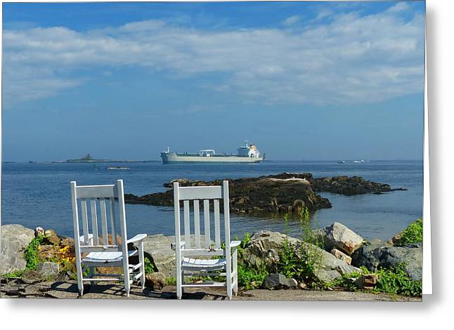 Greeting Card featuring the photograph Scenic View by Elaine Franklin