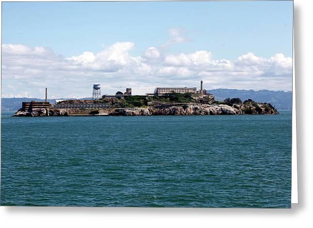 Scenic View Of Alcatraz Island In San Greeting Card
