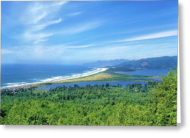 Scenic View Of Bayocean Peninsula Greeting Card