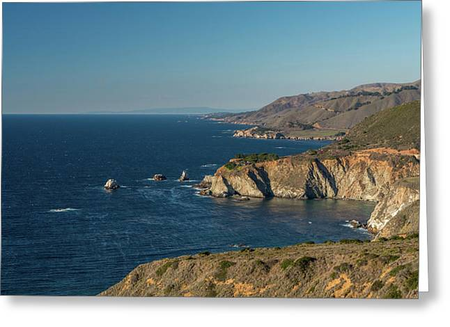 Scenic View Of Bixby Creek Bridge Greeting Card
