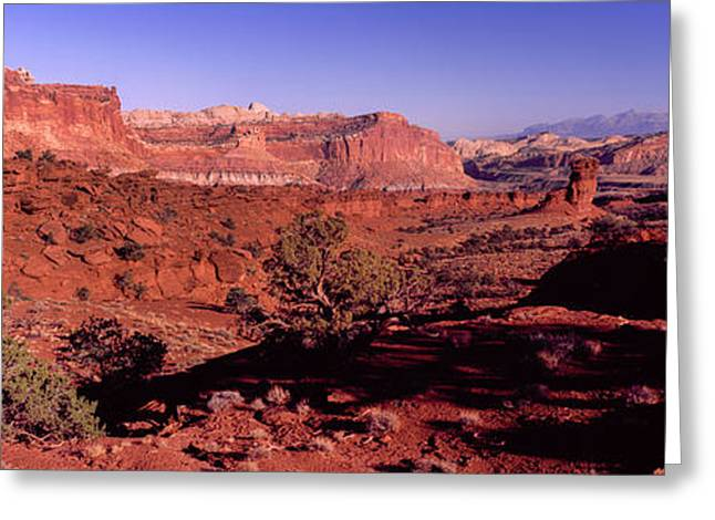 Scenic View Of Capitol Reef National Greeting Card by Panoramic Images