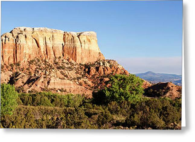 Scenic View Of Ghost Ranch, Abiquiu Greeting Card by Panoramic Images