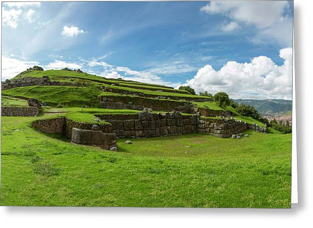 Scenic View Of Inca Archaeological Greeting Card