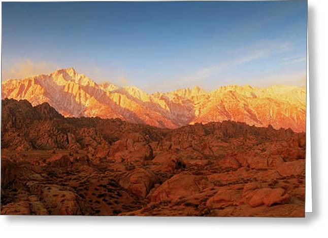 Scenic View Of Mountains, Mount Greeting Card by Panoramic Images
