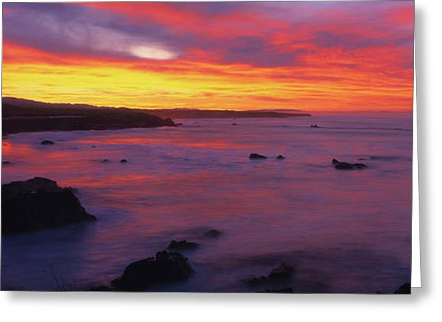 Scenic View Of Pacific Coastline Greeting Card