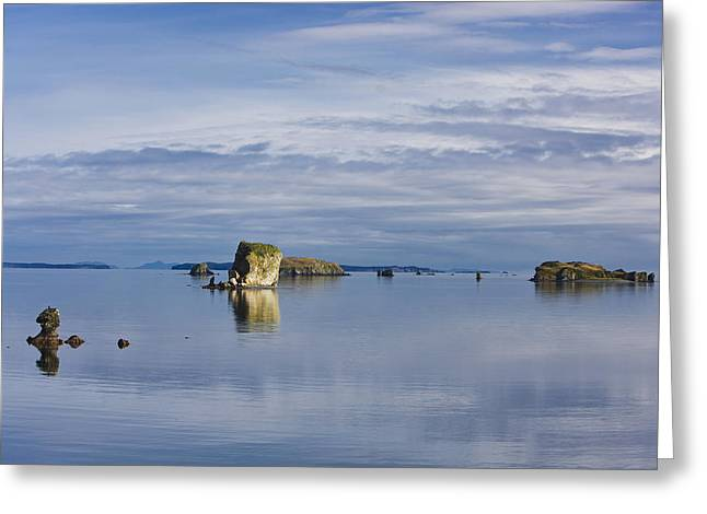 Scenic View Of The Shoreline Of Kalsin Greeting Card by Kevin Smith