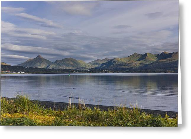 Scenic View Of Womens Bay, Kodiak Greeting Card by Kevin Smith