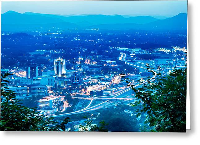 Scenics Around Mill Mountain Roanoke Virginia Usa Greeting Card