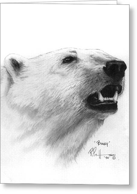 Scent In The Air Polar Bear Greeting Card by Bob Patterson