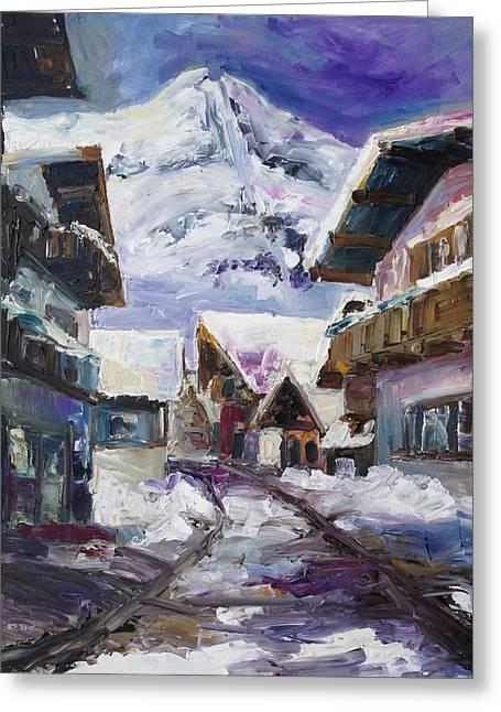 Schattberg Austrian Alps Greeting Card by Barbara Pommerenke