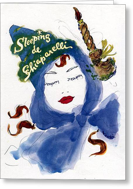 Schiaparelli 1940s Usa    Womens Greeting Card by The Advertising Archives