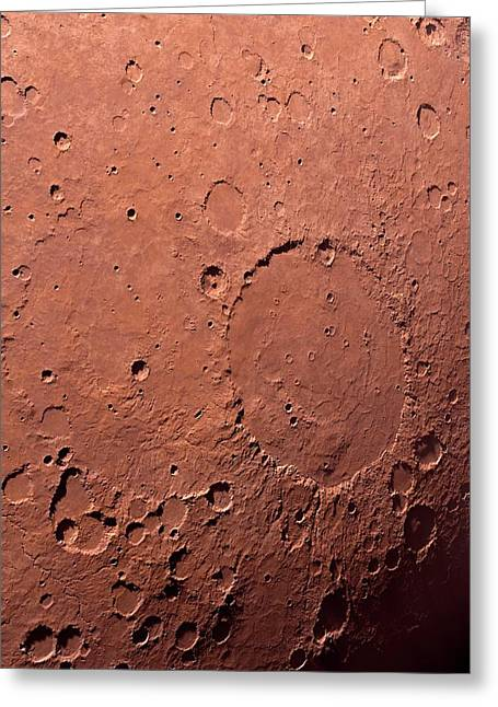 Schiaparelli Crater Greeting Card