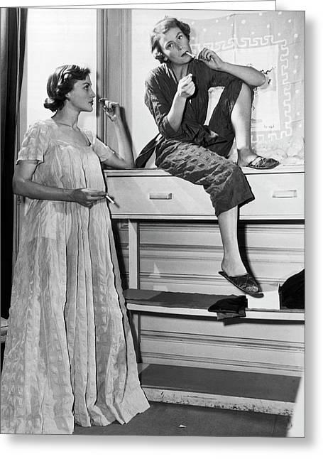 Schiaparelli Fashions Greeting Card by Underwood Archives