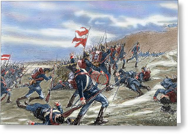 Schleswig-holstein Question. The First Schleswig War Or Three Years War 1848-1851. Fighting Greeting Card by Bridgeman Images