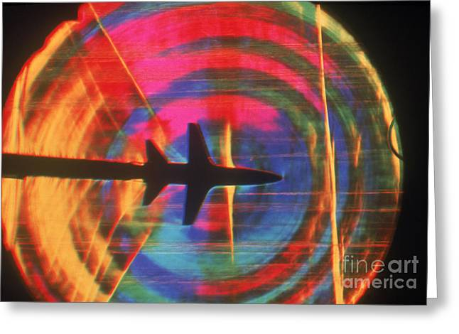 Schlieren Image Of Aircraft Greeting Card by Garry Settles