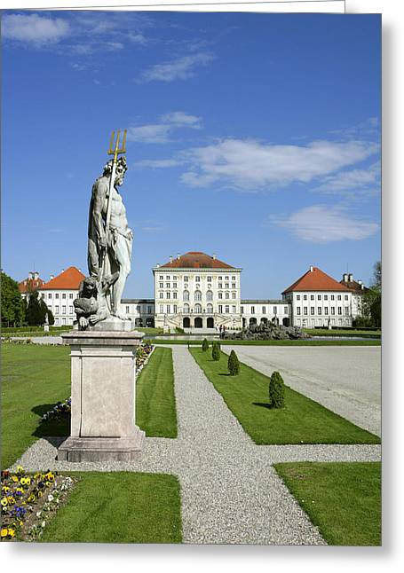 Schloss Nymphenburg In Muenchen, Castle Greeting Card