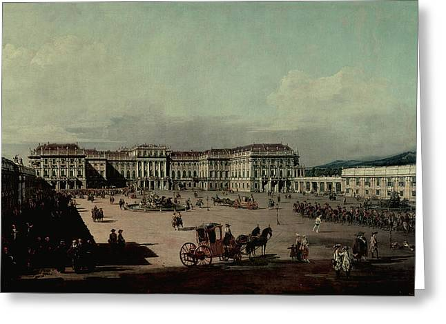 Schloss Schonbrunn, 1759-60 Oil On Canvas Greeting Card