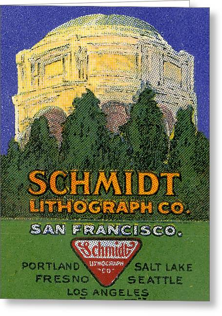 Schmidt Lithograph  Greeting Card