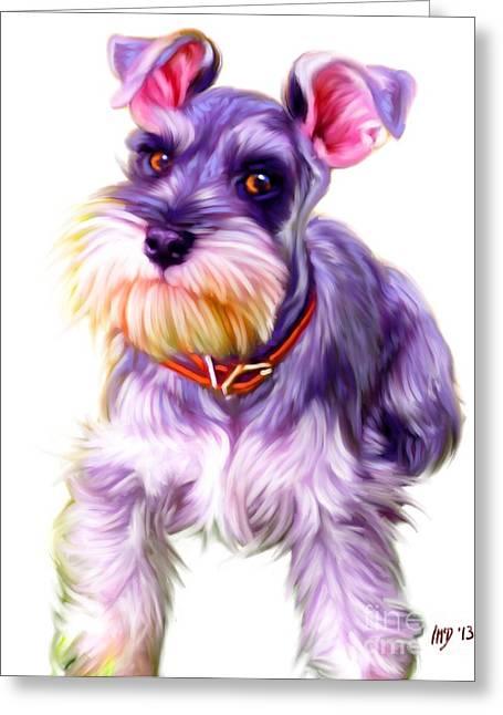 Schnauzer Dog Art Greeting Card