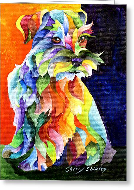 Schnauzer Too Greeting Card