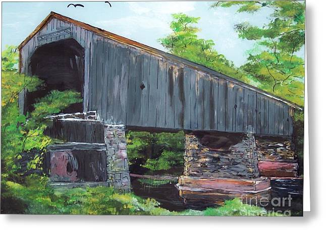 Schofield Covered Bridge Greeting Card